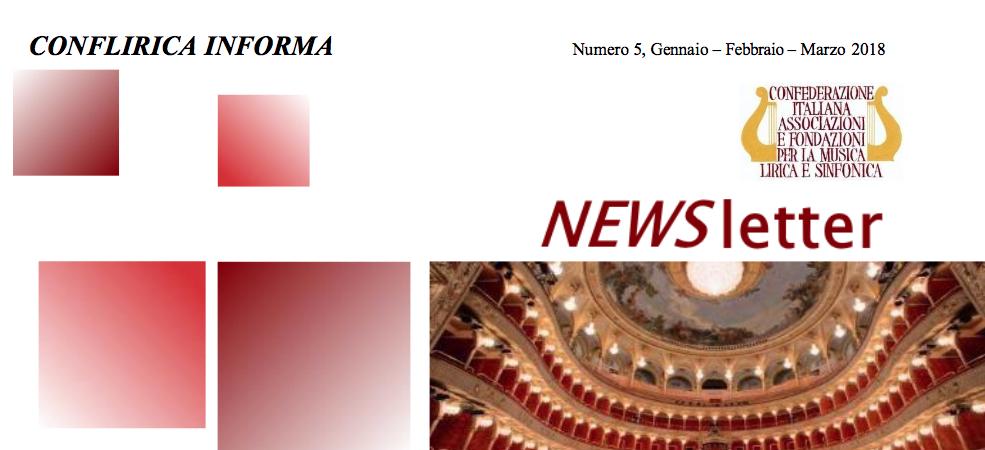 Newsletter n.5 CONFLIRICA INFORMA