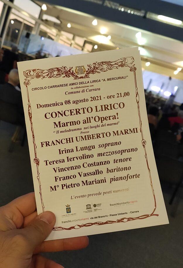 Al via la Terza edizione di Marmo All'Opera Festival!